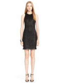 Woven-Lambskin Waverly Dress