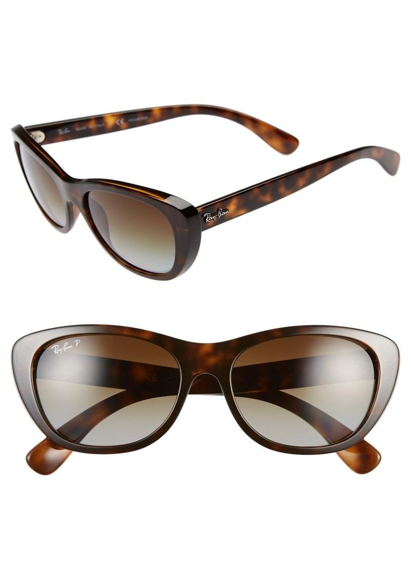 ray ban ray ban 55mm cat eye polarized sunglasses. Black Bedroom Furniture Sets. Home Design Ideas