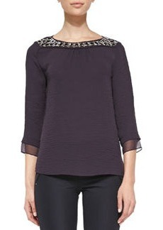 Bead-Neck Top, Wildberry   Bead-Neck Top, Wildberry