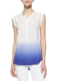 Dip-Dye Sleeveless Top, Chalk/Tanzanite   Dip-Dye Sleeveless Top, Chalk/Tanzanite
