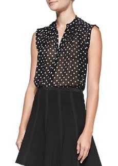 Dotty Printed Sleeveless Top   Dotty Printed Sleeveless Top