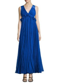 Rebecca Taylor Empire-Waist Pleated Chiffon Gown