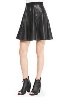 Faux-Leather Flounce Skirt   Faux-Leather Flounce Skirt