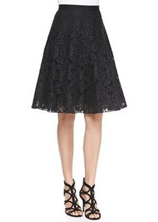 Flared Corded Lace Skirt   Flared Corded Lace Skirt
