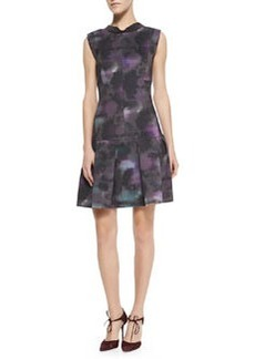 Floral-Haze Mock-Neck Dress   Floral-Haze Mock-Neck Dress