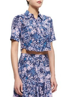 Kiku Floral-Print Crop Top   Kiku Floral-Print Crop Top