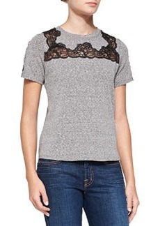 Lace-Inset Short-Sleeve Top   Lace-Inset Short-Sleeve Top