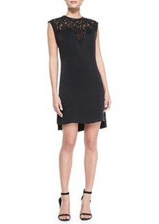 Lace-Top Crepe Dress   Lace-Top Crepe Dress