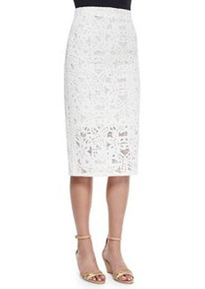 Netted Lace Long Pencil Skirt   Netted Lace Long Pencil Skirt