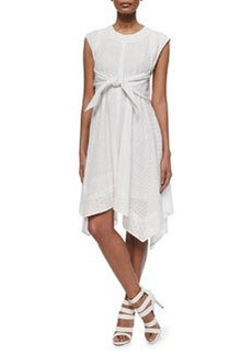 Netted/Eyelet Tie-Waist Dress   Netted/Eyelet Tie-Waist Dress