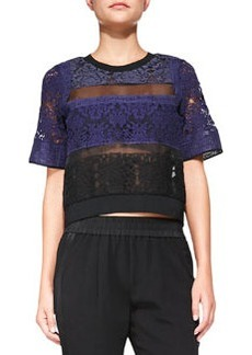 Patchwork Lace Mixed-Media Top   Patchwork Lace Mixed-Media Top