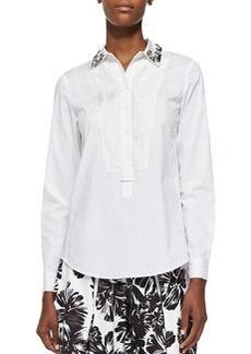 Pop Tux Shirt with Beaded Collar   Pop Tux Shirt with Beaded Collar
