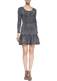 Rebecca Taylor Animal-Print Drop-Skirt Dress