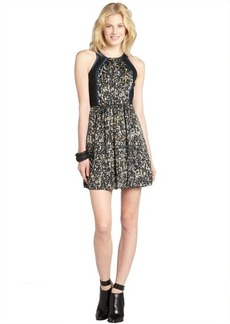 Rebecca Taylor black sequin printed sleeveless dress
