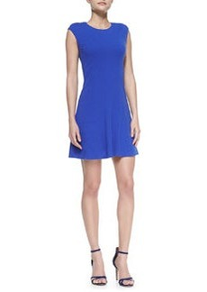 Rebecca Taylor Cap-Sleeve Textured Ponte Dress