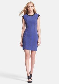 Rebecca Taylor Chain Detail Crepe Sheath Dress
