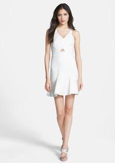 Rebecca Taylor Cloqué Fit & Flare Dress