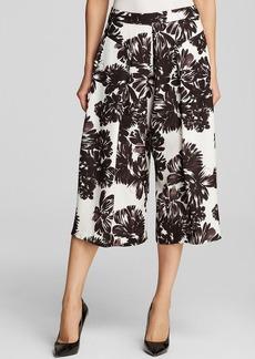 Rebecca Taylor Culottes - Splashy Flower Print Silk