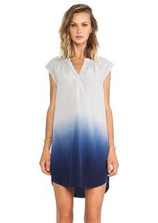 Rebecca Taylor Dip Dye Silk Ombre Dress in Gray