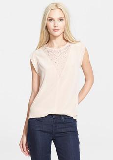 Rebecca Taylor Embellished Silk Top