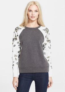 Rebecca Taylor Embellished Sleeve Sweatshirt