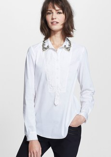 Rebecca Taylor Embellished Tuxedo Shirt