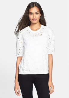 Rebecca Taylor Embroidered Floral Top
