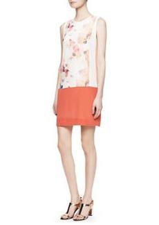 Rebecca Taylor Enchanted Gardens Drop-Waist Shift Dress