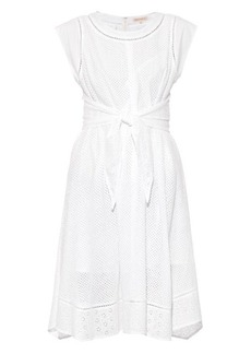 Rebecca Taylor Eyelet-detailed cotton dress