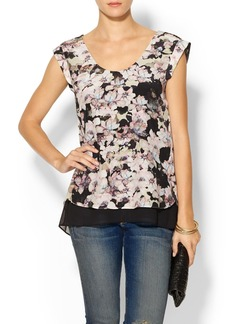 Rebecca Taylor First Floral Double Layer Top