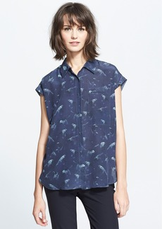 Rebecca Taylor 'Flock Together' Print Silk Shirt