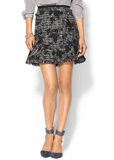 Rebecca Taylor Flocked Flounce Skirt