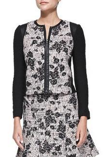 Rebecca Taylor Flocked Tweed Jacket