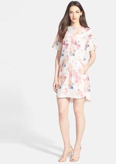 Rebecca Taylor Floral Print Cotton & Silk Voile Dress