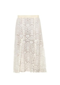 Rebecca Taylor Fluted lace skirt