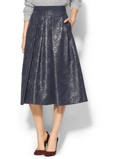 Rebecca Taylor Foil Matelasse Midi Skirt