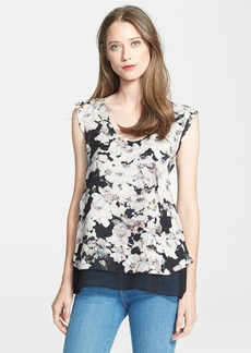 Rebecca Taylor 'Frosted Flower' Print Silk Top