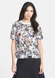 Rebecca Taylor 'Grey Ground Combo' Print Top