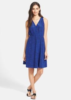 Rebecca Taylor Ink Dot Print Silk Blouson Dress