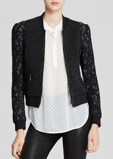 Rebecca Taylor Jacket - Textured Lace Bomber
