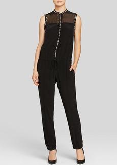Rebecca Taylor Jumpsuit - Sleeveless Studded Silk