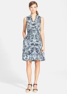 Rebecca Taylor 'Kiku' Floral Print Silk Fit & Flare Dress