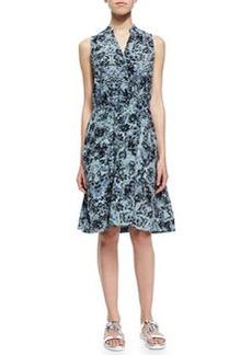 Rebecca Taylor Kiku Sleeveless Printed A-Line Dress