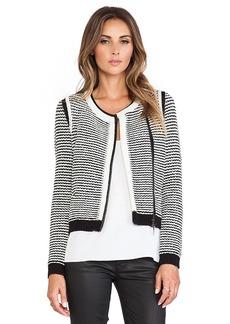 Rebecca Taylor Knit Jacket in Black