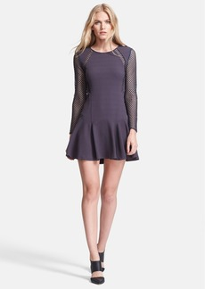 Rebecca Taylor Lace Detail Long Sleeve Dress