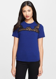 Rebecca Taylor Lace Inset Tee