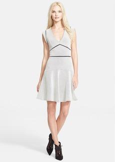 Rebecca Taylor Ladder Stitch Textured Drop Waist Dress