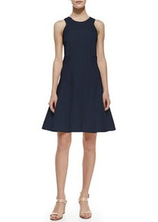 Rebecca Taylor Laser-Cut Fit-and-Flare Dress