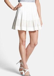 Rebecca Taylor Laser Cut Poplin Skirt