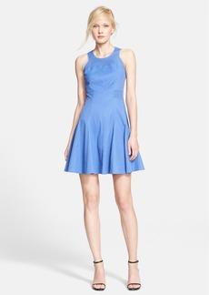 Rebecca Taylor Laser Cut Woven A-Line Dress